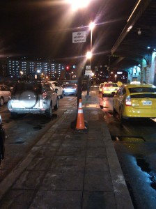 Cars and Taxis Lined Up Outside Baltimore's Penn Station