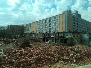 Demolition on Castle Street in East Baltimore