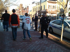 Cops and Brodudes at E. Cross & Light St.