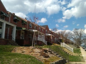 Rows of Brick Houses at Rexmere Road and Chestnut Hill Avenue