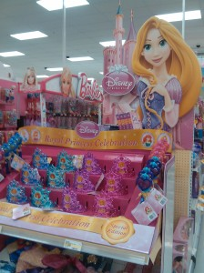 Princess Party Paraphernalia at the Target at Canton Crossing At The End of Boston Street
