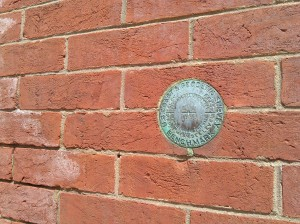 US Coast and Geodetic Survey Benchmark Medallion on School 33 Art Center at Light & Birckhead