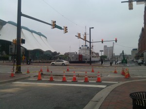 A Ring of Safety Cones at E. Pratt & Gay