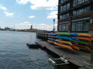 Kayak Stacks at the Fells Point Pier