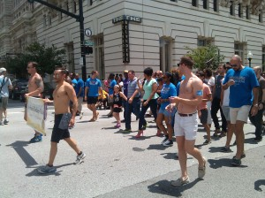 Mayor Stephanie Rawlings-Blake Marching in the Gay Pride Parade at Charles & Chase
