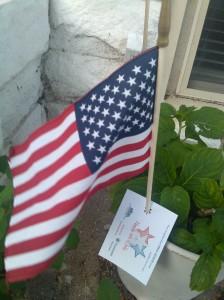 American Flag at Covington & East Barney