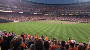 Orioles Game From the Bleachers at Camden Yards