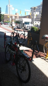 Bike Corral at Lombard & Greene