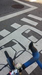 Zipper Crosswalk at Eutaw & Fayette