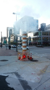 Column of Steam at Pratt & Constellation