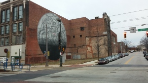 Mural and Blighted Building at Monument & Howard