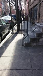 View Down the Sidewalk on Penn Street in Ridgely's Delight