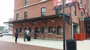 Waiting in Line for Tickets at Oriole Park at Camden Yards at Camden & Eutaw