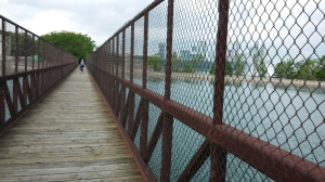 Crossing a Bridge Along the Niagara Parkway Near The Falls