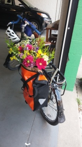 Flowers in My Pannier at Local Color Flowers at Brentwood & 32nd