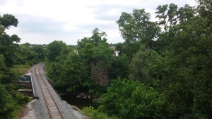 View From a Pedestrian Bridge on the Gwynns Falls Trail Just South of Wilkens Avenue