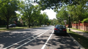 Bike Lane on Roland Avenue North of Coldspring